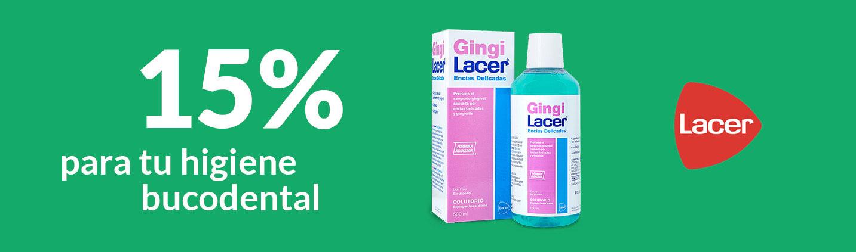 15% para tu higiene bucodental de la marca Lacer